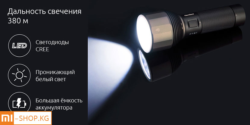 Светодиодный фонарик Xiaomi NexTool Nato Outdoor Glare Flashlight (6061-T6)