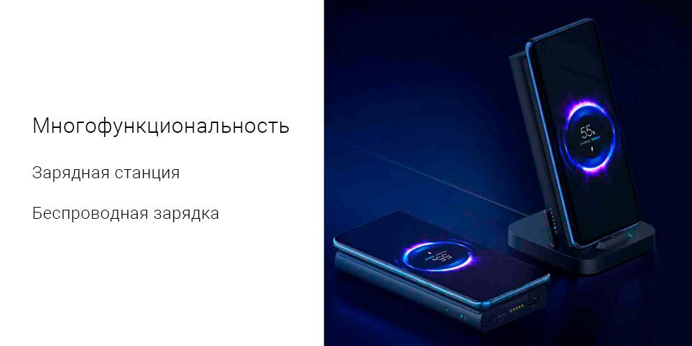 Внешний аккумулятор с беспроводной зарядкой Xiaomi Power Bank 10000 mAh 30w (WPB25ZM)