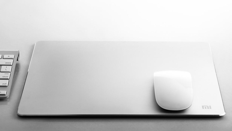 Металлический коврик для мыши Xiaomi Mi Metal Style Mouse Pad L (300 х 240 мм) (3MA1QWSNMO)